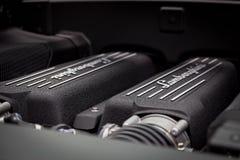 Lamborghini lp560-4 Super Motor van een auto Royalty-vrije Stock Afbeelding