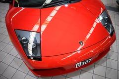 Lamborghini Mucielago Closeup Front Hood royaltyfri bild