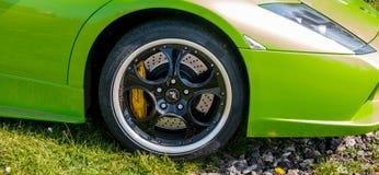 Lamborghini Murcielago的轮子 图库摄影