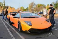 Lamborghini Murcielago on display Stock Photography