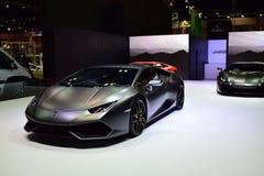 Lamborghini negro Foto de archivo libre de regalías