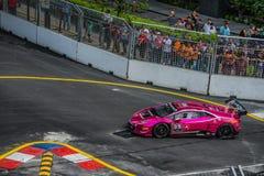 Lamborghini nel Gran Premio della città Fotografia Stock
