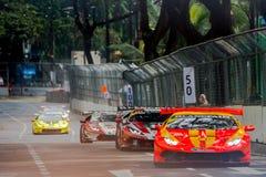 Lamborghini nel Gran Premio della città Immagini Stock