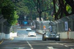 Lamborghini nel Gran Premio della città Immagine Stock