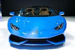 Lamborghini på skärm i Bangkok den internationella motoriska showen royaltyfri foto