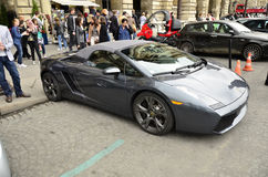 Lamborghini in Paris. Luxury car photographed at the streets of Paris, France Stock Photo