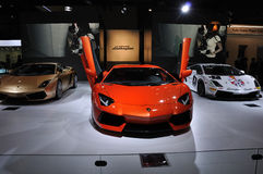 Lamborghini pavilion Royalty Free Stock Photo