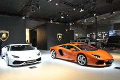 Lamborghini paviljong Royaltyfri Fotografi