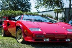 Lamborghini rojo Countach Imágenes de archivo libres de regalías