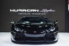Lamborghini samochód przy Tajlandia zawody międzynarodowi silnika expo 2015 Obrazy Royalty Free