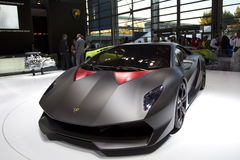 Lamborghini Sesto Elemento in Paris Motor Show Royalty Free Stock Images