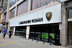 Lamborghini  shop Stock Image