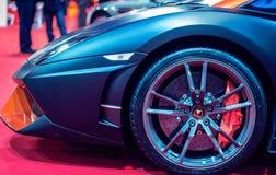 Lamborghini sports car at show royalty free stock photos