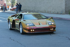 Lamborghini su esposizione fotografie stock