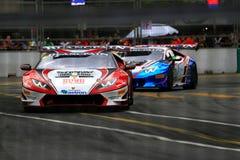 Lamborghini toppen Trofeo KL stadsgrand prix Royaltyfri Bild