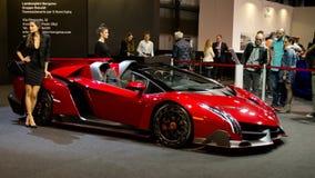 Lamborghini Veneno in Milaan Autoclassica 2016 stock afbeelding