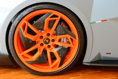 Lamborghini Egoista wheel details Royalty Free Stock Images