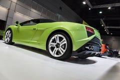 Lamborghini verde Gallardo LP560-4 Spyder Fotografía de archivo