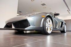 Lamborghini w Sala wystawowej Gallardo obraz royalty free