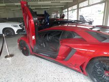 Lamborghoni Avendator SV. Luxury car dealer. Luxury car dealer. Lamborghoni Avendator SV. Expensive cars. Rich men toys stock photo