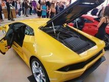 Lamborgini黄色汽车 库存图片