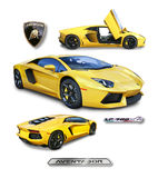 Lamborghini Aventador Supercar- isolated royalty free stock photography