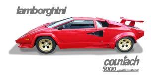 Lamborghini Countach Italian Exotic Supercar- Isolated Stock Image