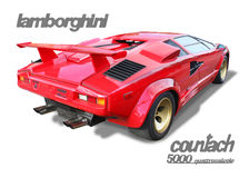 Lamborghini Countach Italian Exotic Supercar- Isolated Royalty Free Stock Image