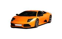 Lamborgini mette in mostra l'automobile arancione Fotografie Stock Libere da Diritti