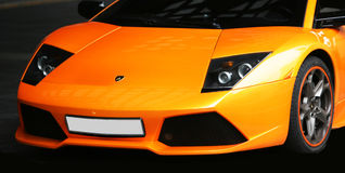 Lamborgini Sports orange Auto Stockbilder
