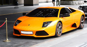 Lamborgini Sports orange car Stock Photo