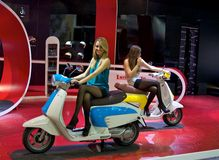 Lambretta stand Eicma 2011 Royalty Free Stock Images