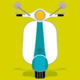 Lambretta (vector). Retro style of scooter bike vector illustration