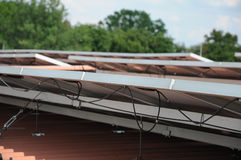 lambrisse photovoltaïque Photo libre de droits