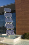 lambrisse photovoltaïque Images libres de droits