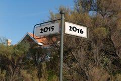 Lambrissez pendant la nouvelle année 2016 Photos libres de droits