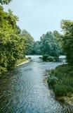 Lambro河在蒙扎公园 库存照片