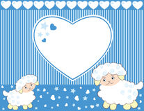 Lambs for baby boy Stock Images