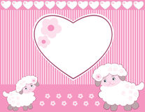 Lambs for baby girl, Royalty Free Stock Image
