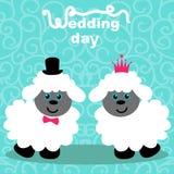 lambs bröllop för brudgum för brudceremonikyrka stock illustrationer