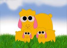 lambs får stock illustrationer