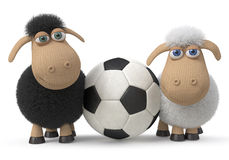Lambs football players Stock Images
