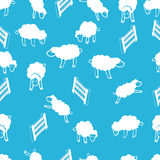 lambs little seamless modell vektor illustrationer