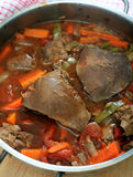 Lambs liver casserole vertical Royalty Free Stock Photography