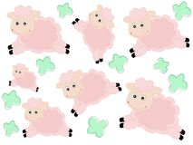 Lambs pattern Royalty Free Stock Images