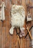 Lambskin e mão - artigos étnicos feitos Foto de Stock