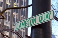Lambton Quay à Wellington - au Nouvelle-Zélande images stock