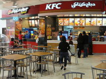 Lamcy placu centrum handlowe w Dubaj, UAE Fotografia Royalty Free