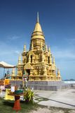 The Lame So Pagoda with Budda statues on the 4170 road in Koh Samui in Thailand Royalty Free Stock Photography