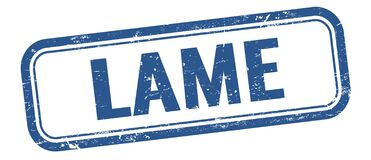 Free LAME Text On Blue Grungy Vintage Stamp Stock Image - 213094531